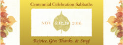 Sing! Centennial Celebration Praise Sabbath