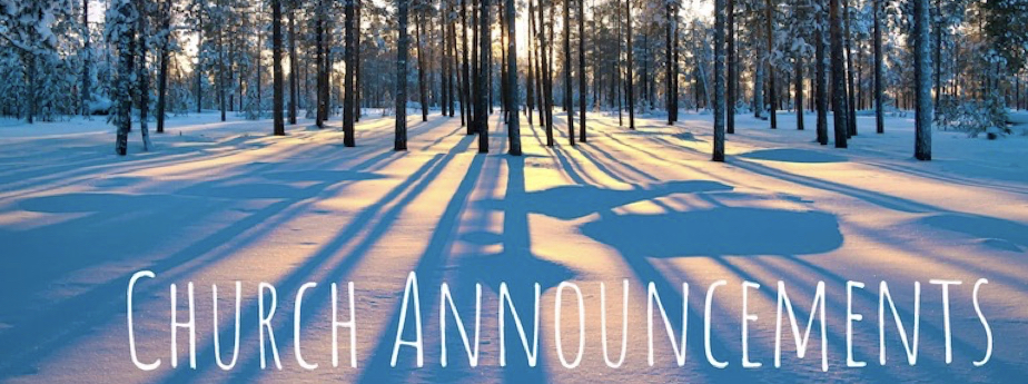 Winter Church Announcement